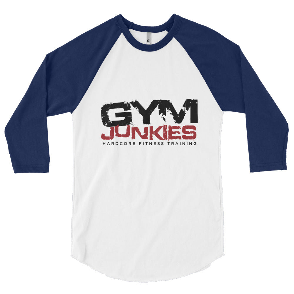 GymJunkies 3/4 sleeve raglan shirt - gymjunkies
