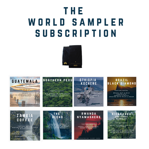 The Five'21 Roasters World Sampler Subscription