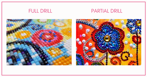 full drill and partial drill diamond painting