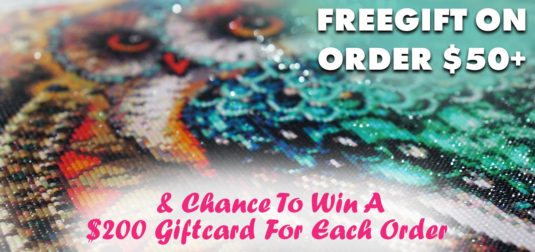 Free gift on order $50+ and chance to win $200 gift card