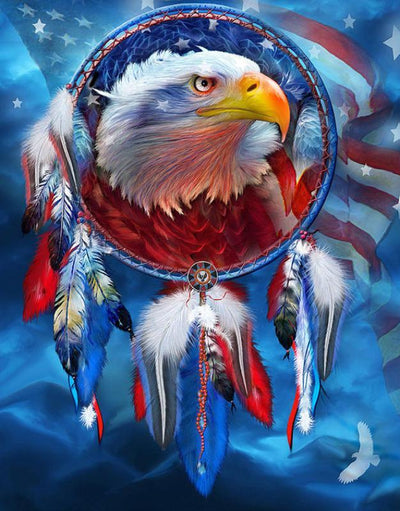 12x16inches American Eagle Dream Catcher Square Diamond Painting