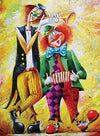 12x16inches Funny Clown Square Diamond Painting