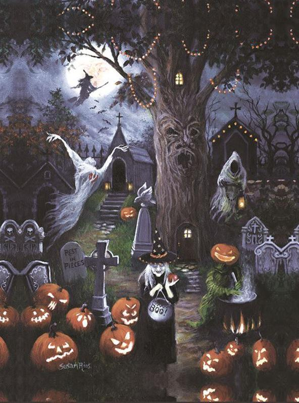 Halloween Night Square Diamond Painting