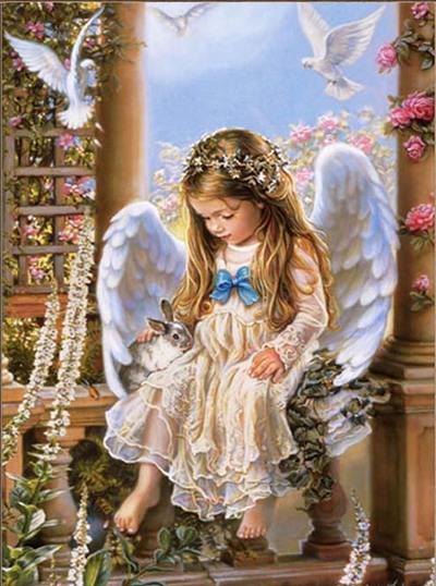 12x16inches Little Angel 5D Square Diamond Painting