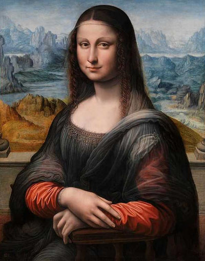 12x16inches Mona Lisa Smile Square Diamond Painting