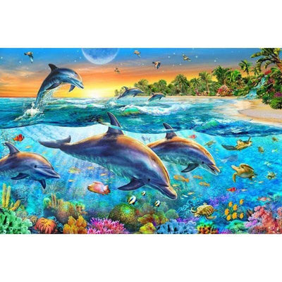 12x16inches Sea World Dolphin Square Diamond Painting