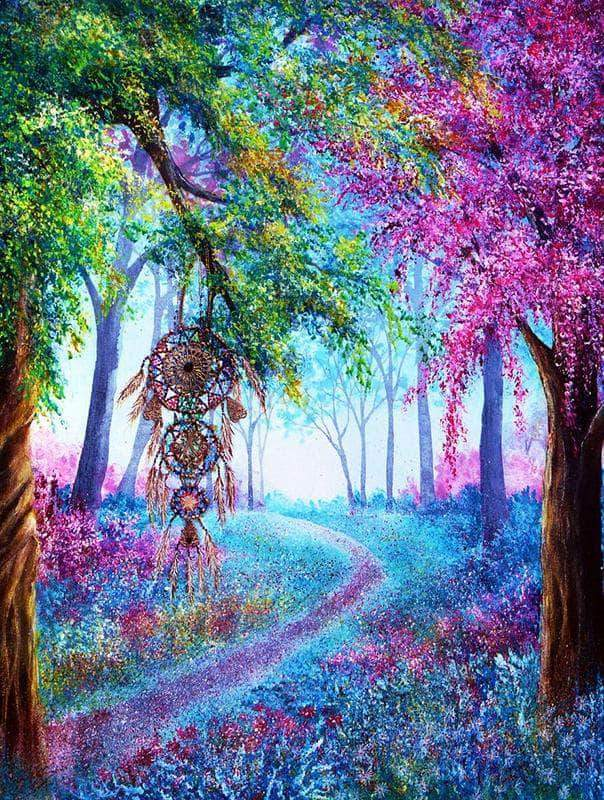 16x12inches Dream Catcher Colorful Wonderland Square Diamond Painting