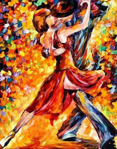 16x12inches In The Rhythm Of Tango Square Diamond Painting