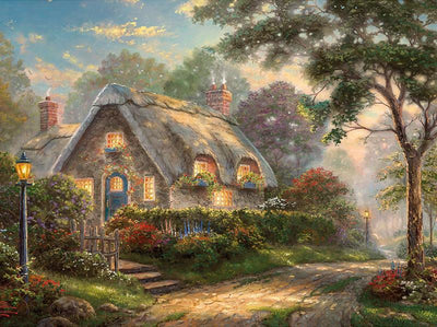 16x12inches Lovelight Cottage Square Diamond Painting