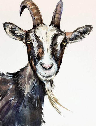 16x12inches Old Goat Square Diamond Painting