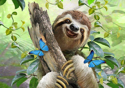 Smile Lovely Sloth Diamond Painting