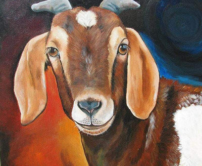 16x12inches The Beautiful Goat Square Diamond Painting