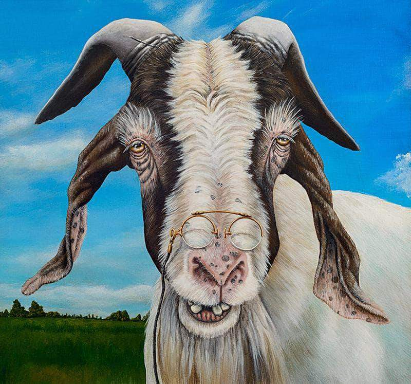 16x16inches Grandpa Goat Square Diamond Painting