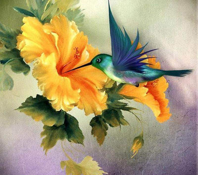 16x16inches Hummingbird Square Diamond Painting