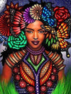 2 / Square Drill 40x50 Cm / 16x20 Inch African Women Diamond Painting