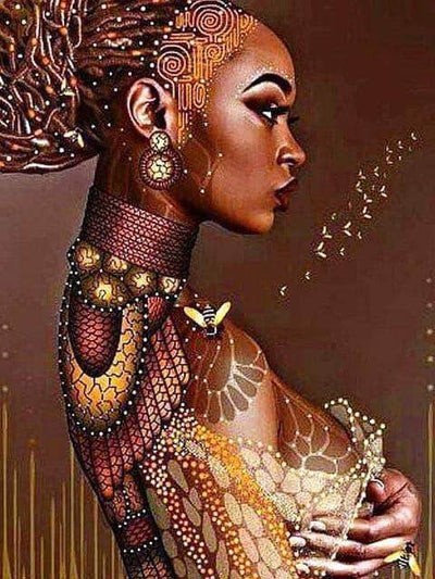 3 / Square Drill 40x50 Cm / 16x20 Inch African Women Diamond Painting