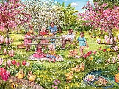 Family in the Garden Diamond Painting