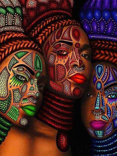5 / Square Drill 40x50 Cm / 16x20 Inch African Women Diamond Painting