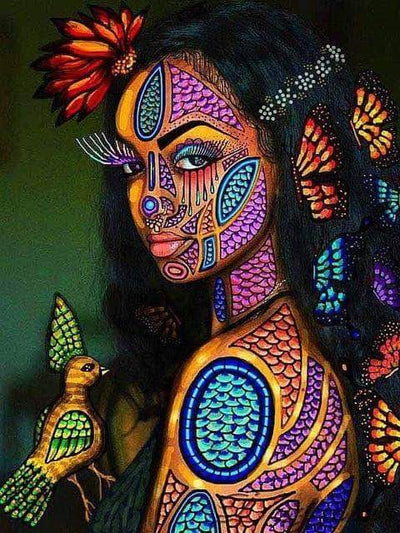 8 / Square Drill 40x50 Cm / 16x20 Inch African Women Diamond Painting