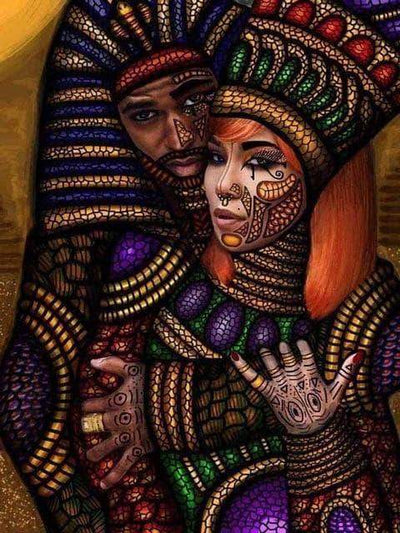 9 / Square Drill 40x50 Cm / 16x20 Inch African Women Diamond Painting