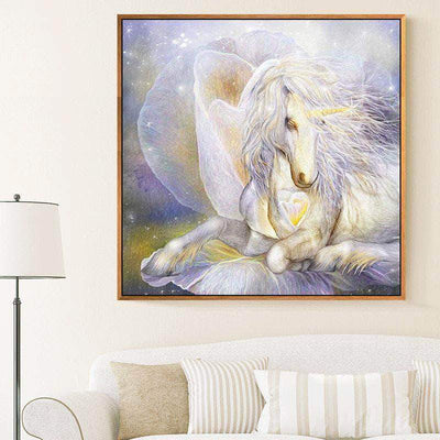 Abstract Flower Unicorn Square Diamond Painting