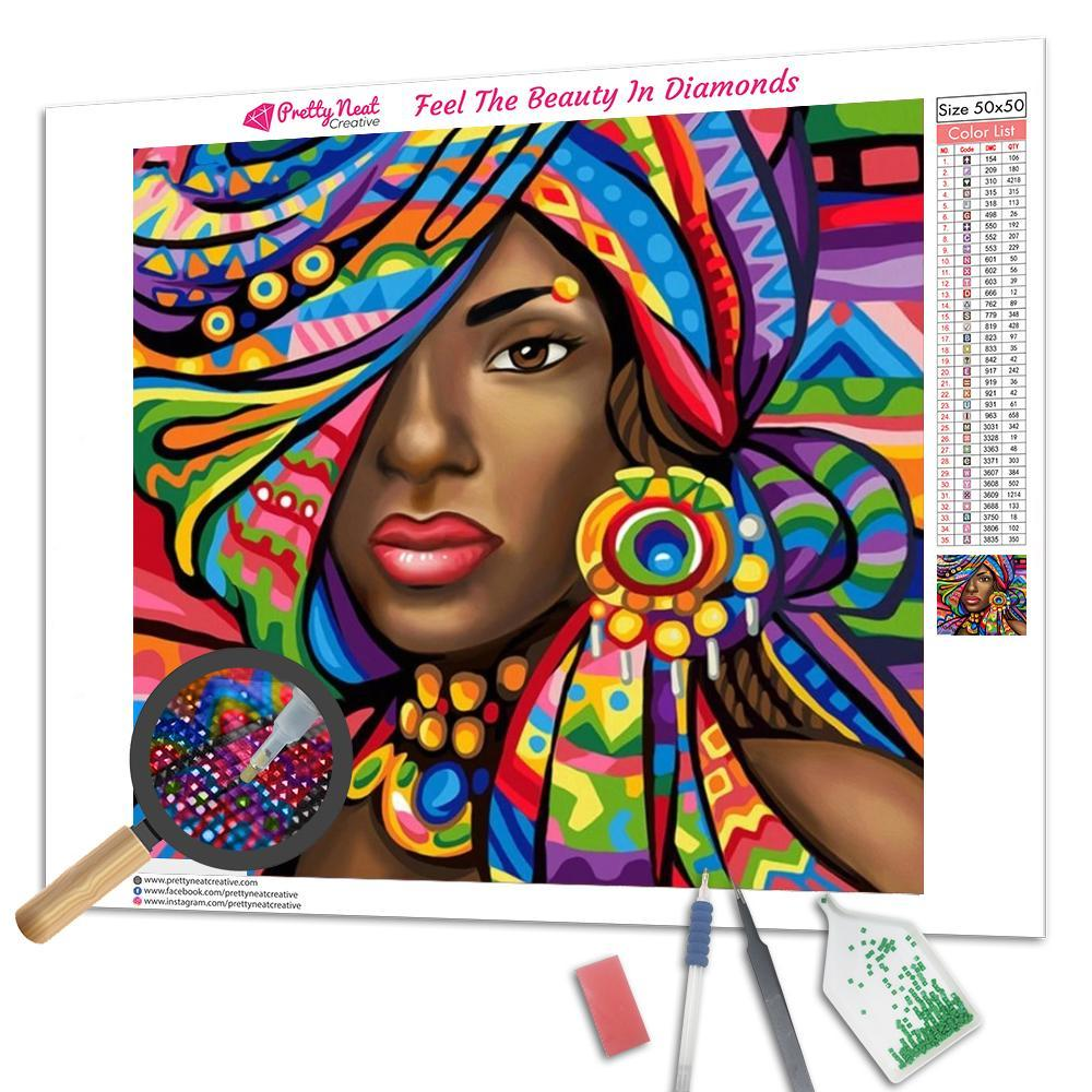 African Art Square Diamond Painting