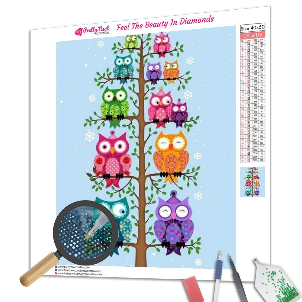 All The Owlets Square Diamond Painting