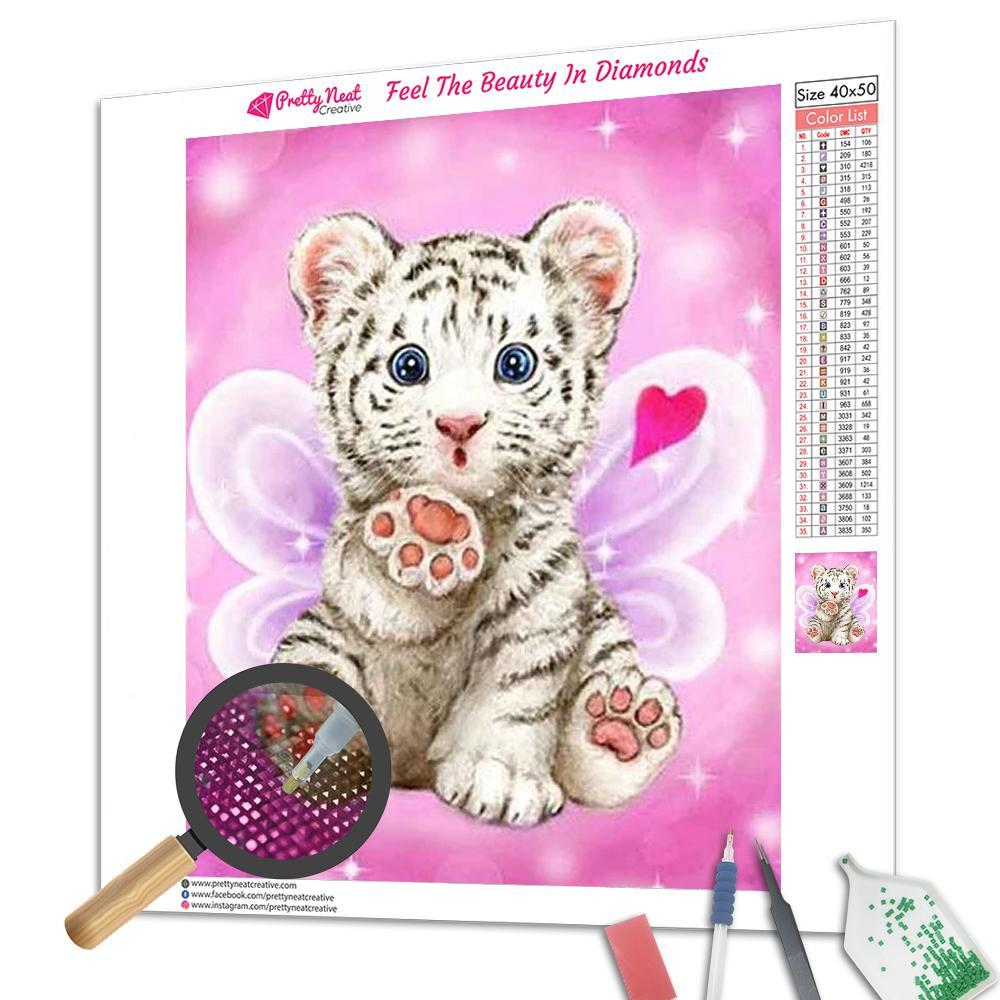 Angel Tiger Square Diamond Painting