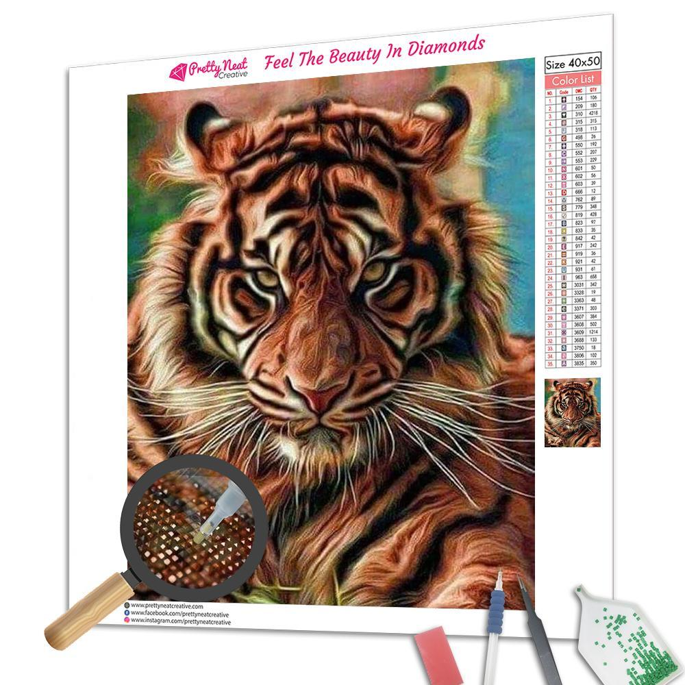 Angry Tiger Square Diamond Painting