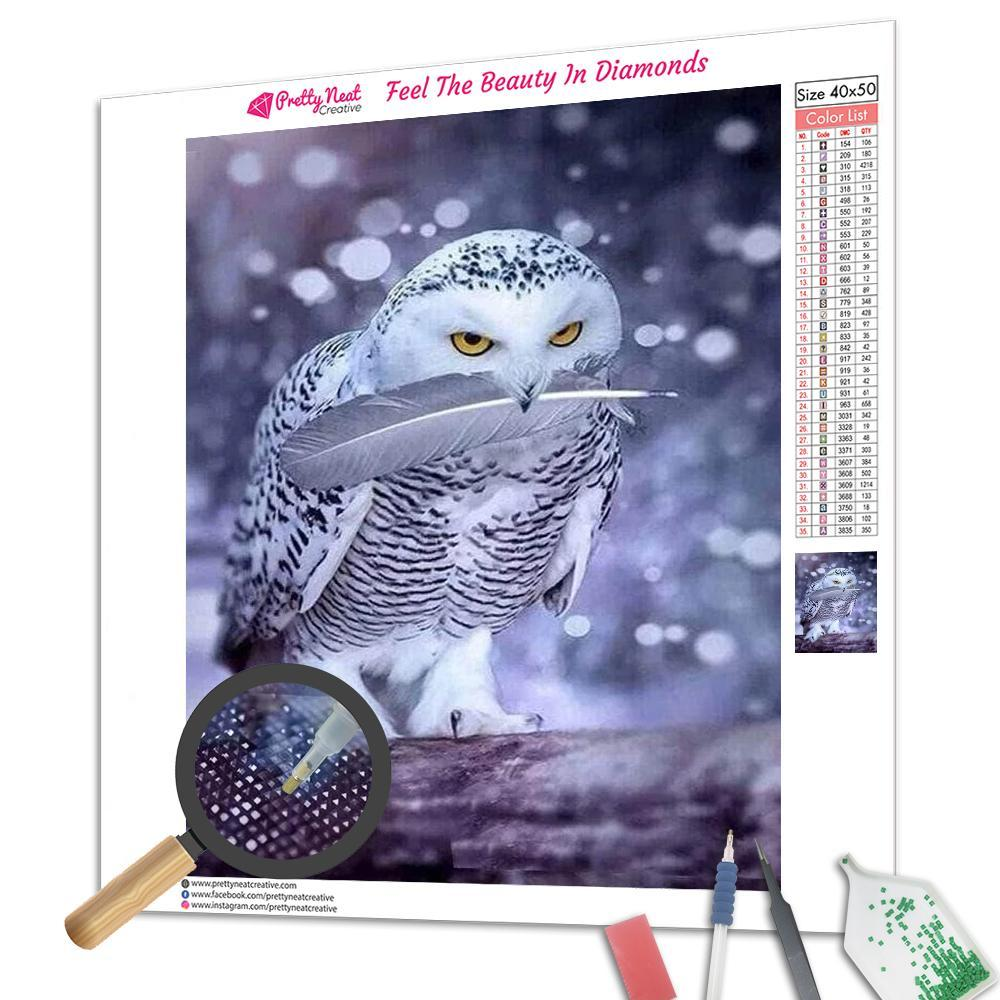 Arctic Owl Square Diamond Painting