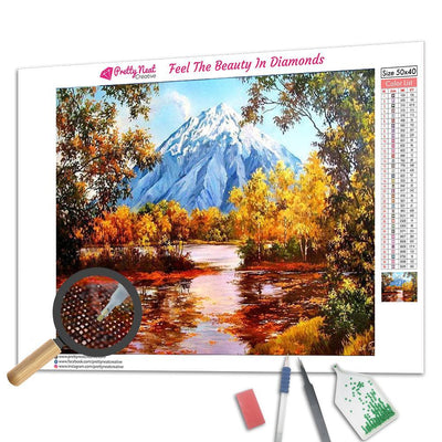 Autumn Forest Square Diamond Painting