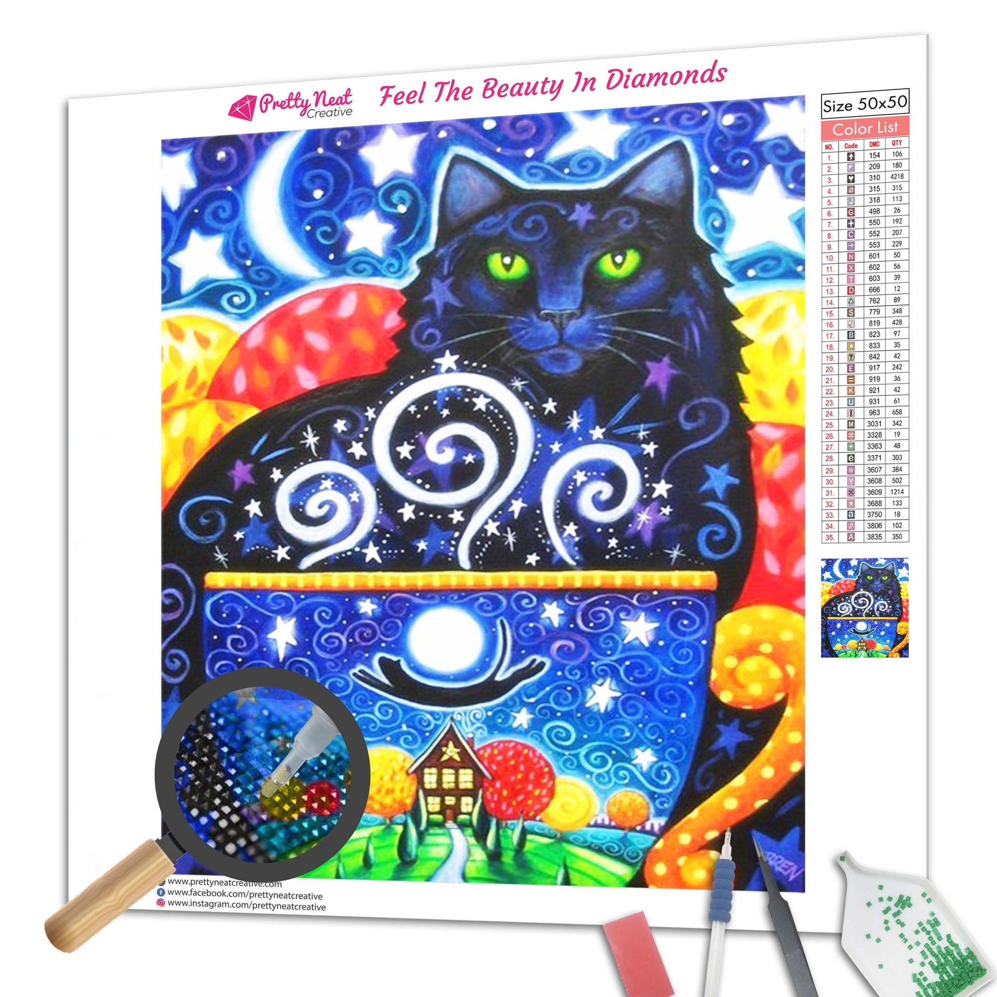 Black Cats in Dream Diamond Painting