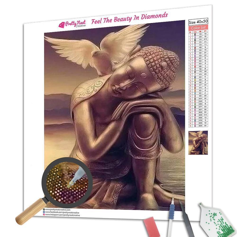 Buddha and Dove 5D Round Diamond Painting