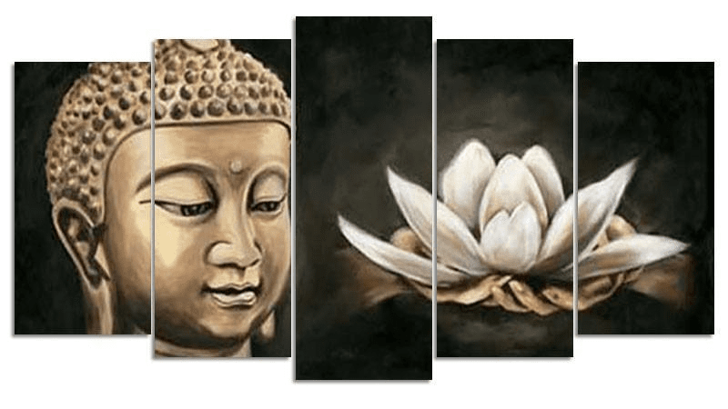 Buddha & Lotus Square Diamond Painting