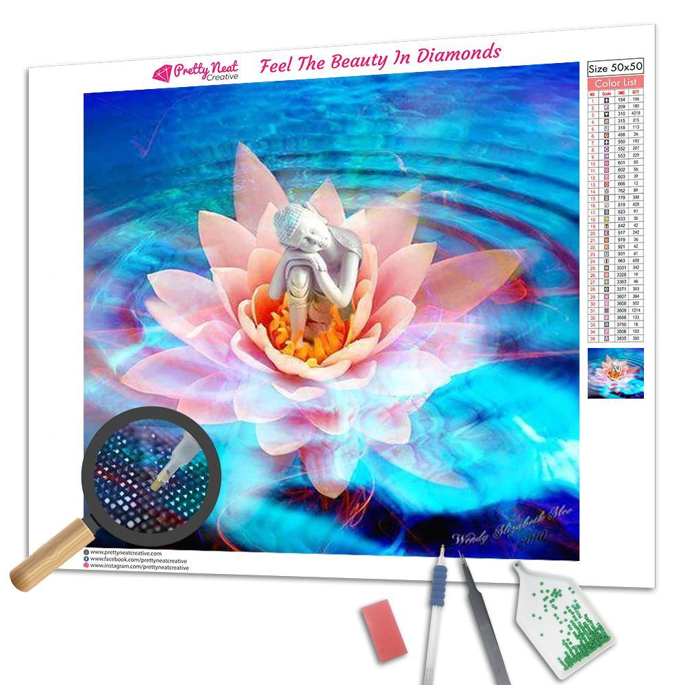 Buddha On Lotus Square Diamond Painting