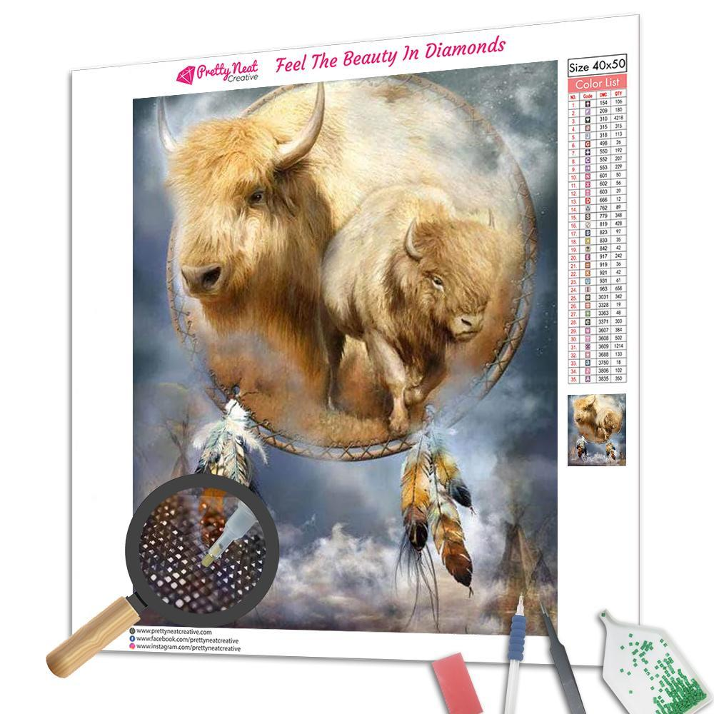 Buffalo Dream Catcher Square Diamond Painting