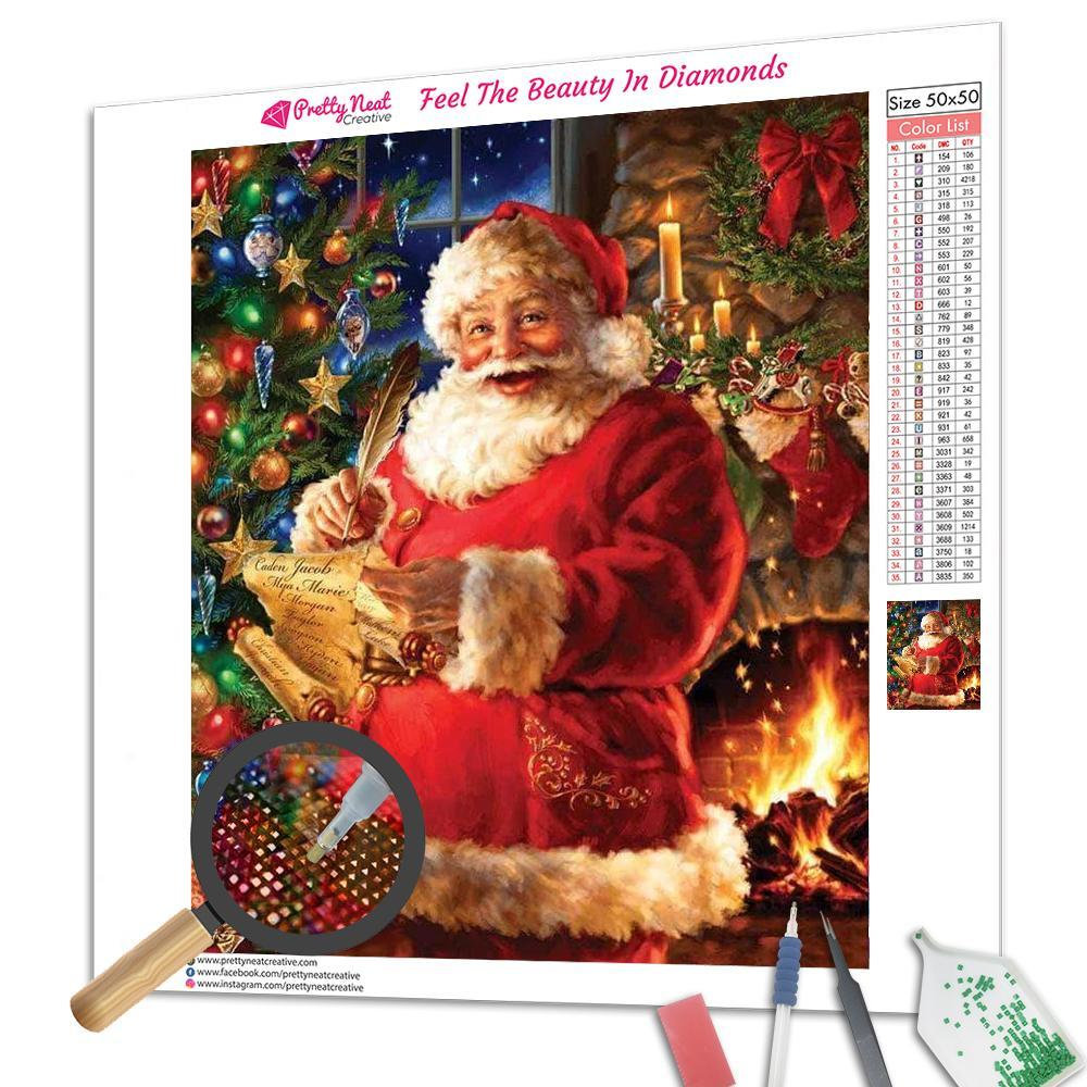 Christmas Santa Check Name List Diamond Painting