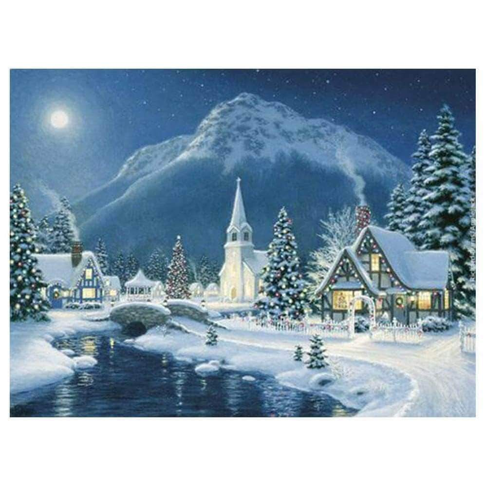 Christmas Town 5D Square Diamond Painting