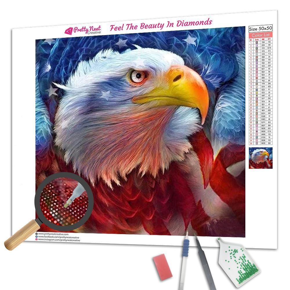 Clearance - American Eagle 5D Square Diamond Painting