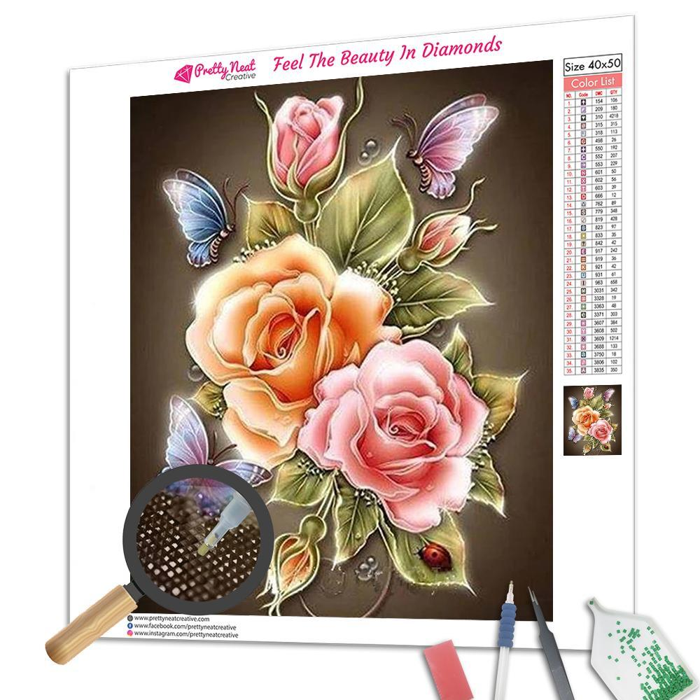 Clearance - Butterfly Rose 5D Diamond Painting