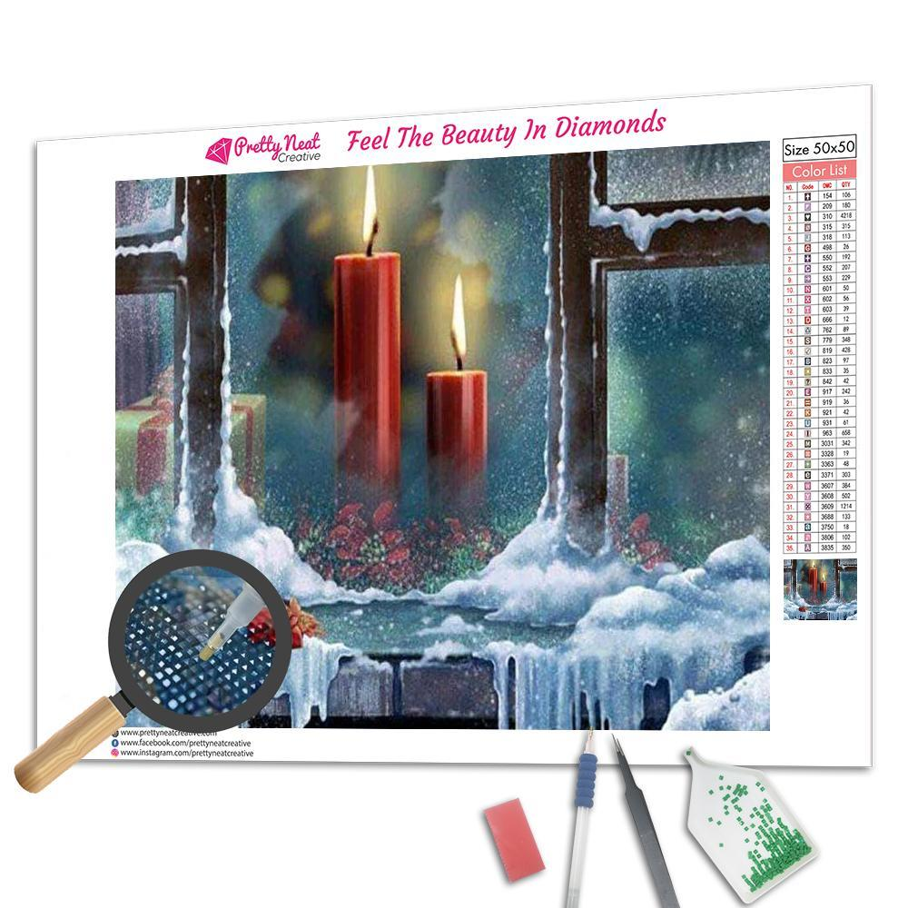 Clearance - Christmas Candles Diamond Painting