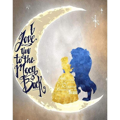 Clearance - I Love You To The Moon Back Diamond Painting