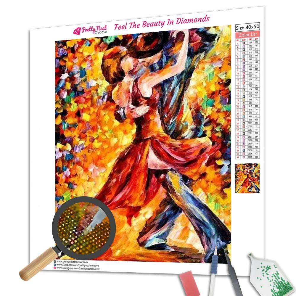 Clearance - In The Rhythm Of Tango Square Diamond Painting