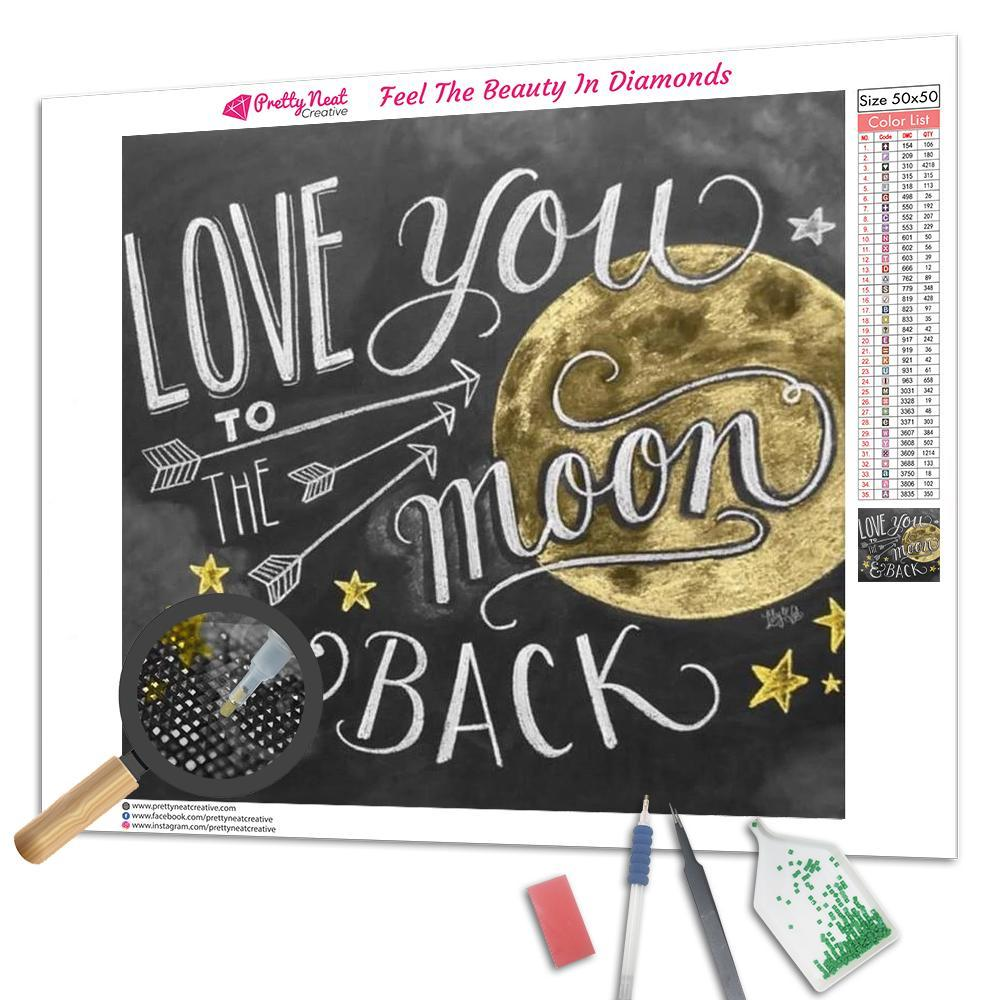 Clearance - Love You To The Moon Square Diamond Painting