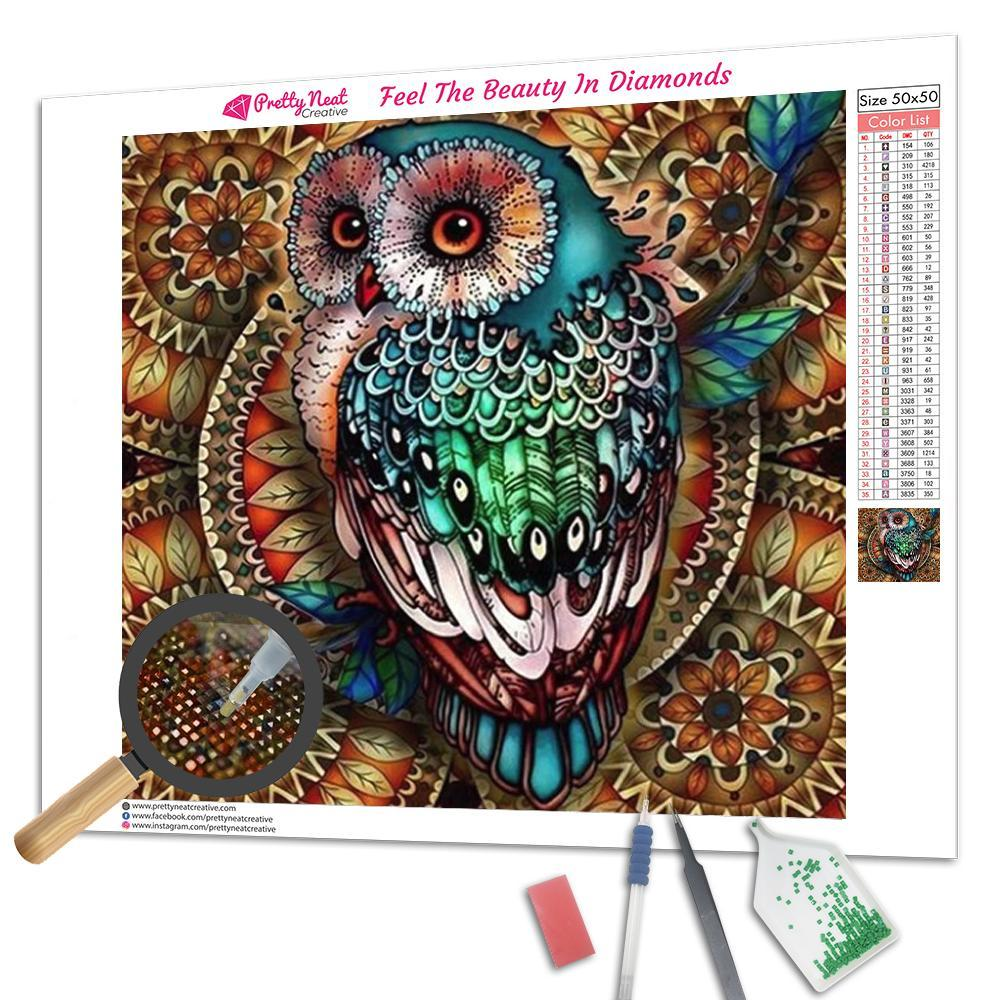 Clearance - Mandala Owl Diamond Painting