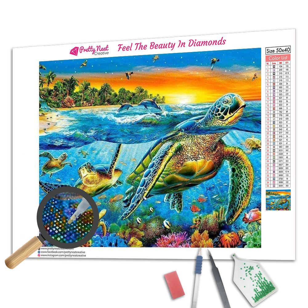 Clearance - Sea Turtle 5D Square Diamond Painting