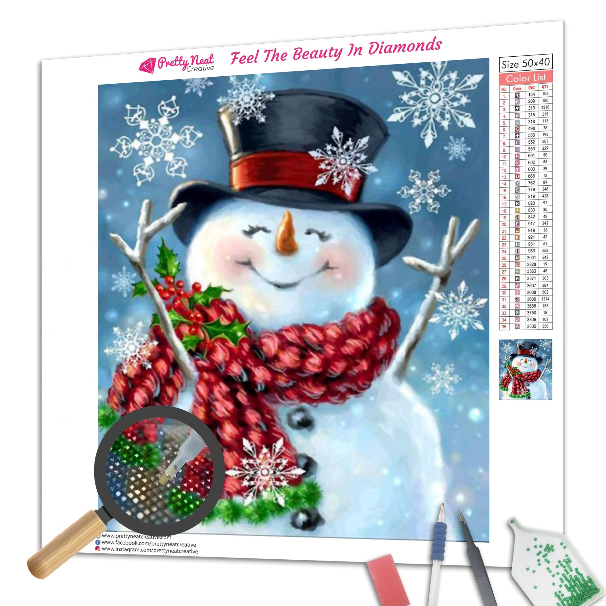 Clearance - Snowmans Christmas  Diamond Painting