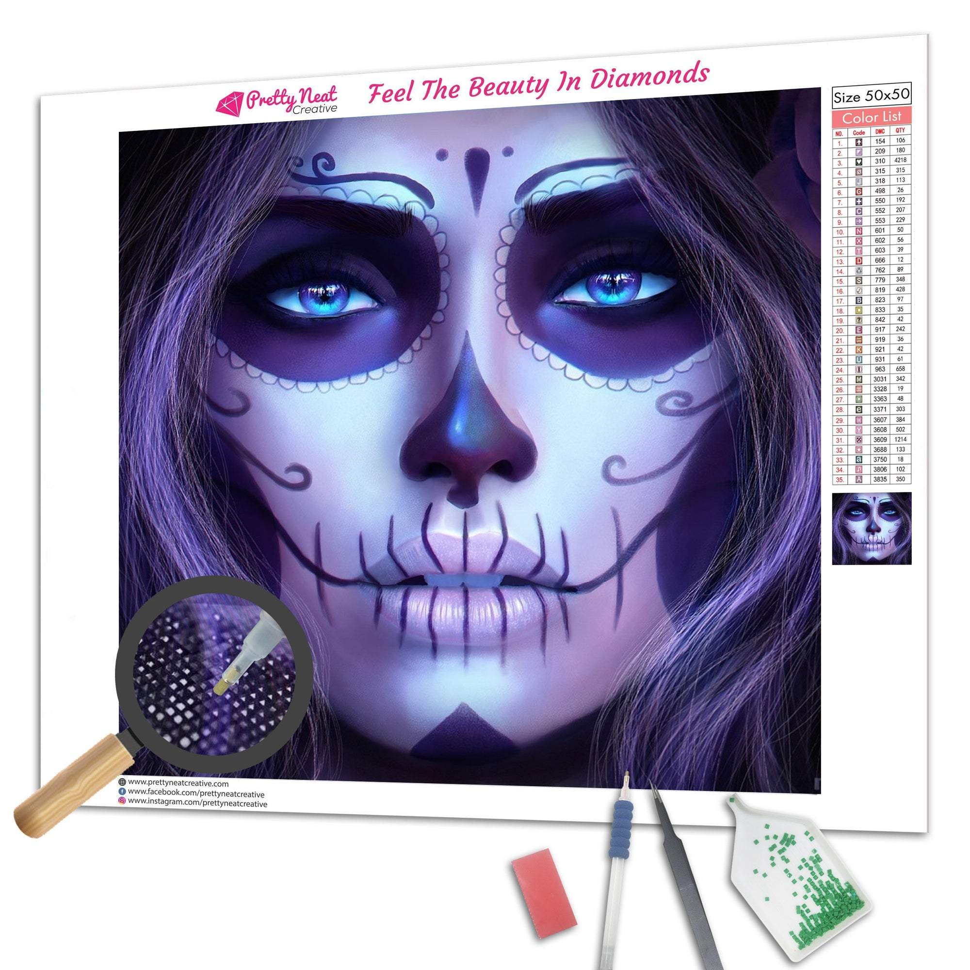 Clearance - Sugar Skull Girl Diamond Painting