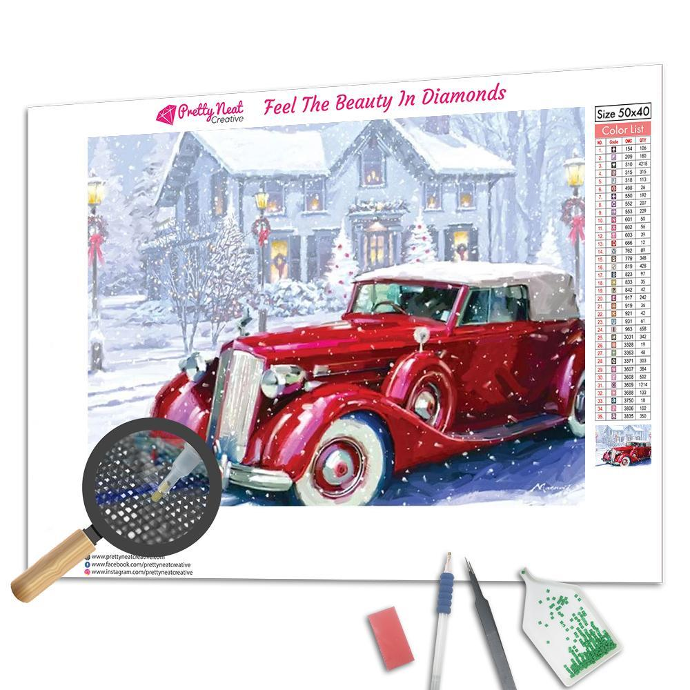 Clearance - Vintage Car Square Diamond Painting