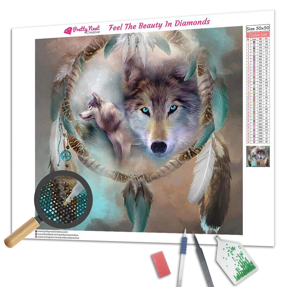 Clearance - Wolf Dream Catcher Diamond Painting